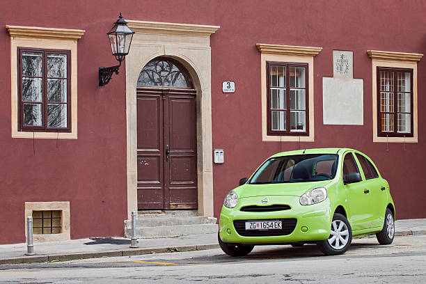 Nissan Micra in Zagreb der Innenstadt – Foto