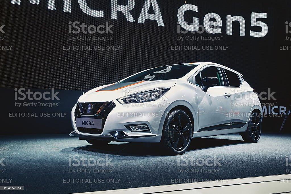 2017 Nissan Micra stock photo