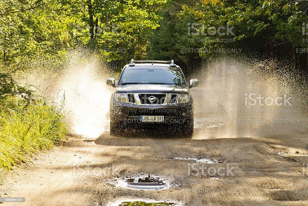 Nissan Navara in action stock photo