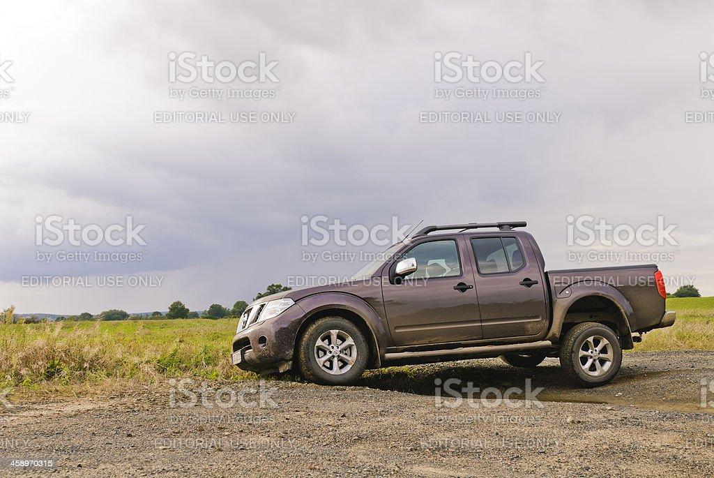 Nissan Navara off road stock photo