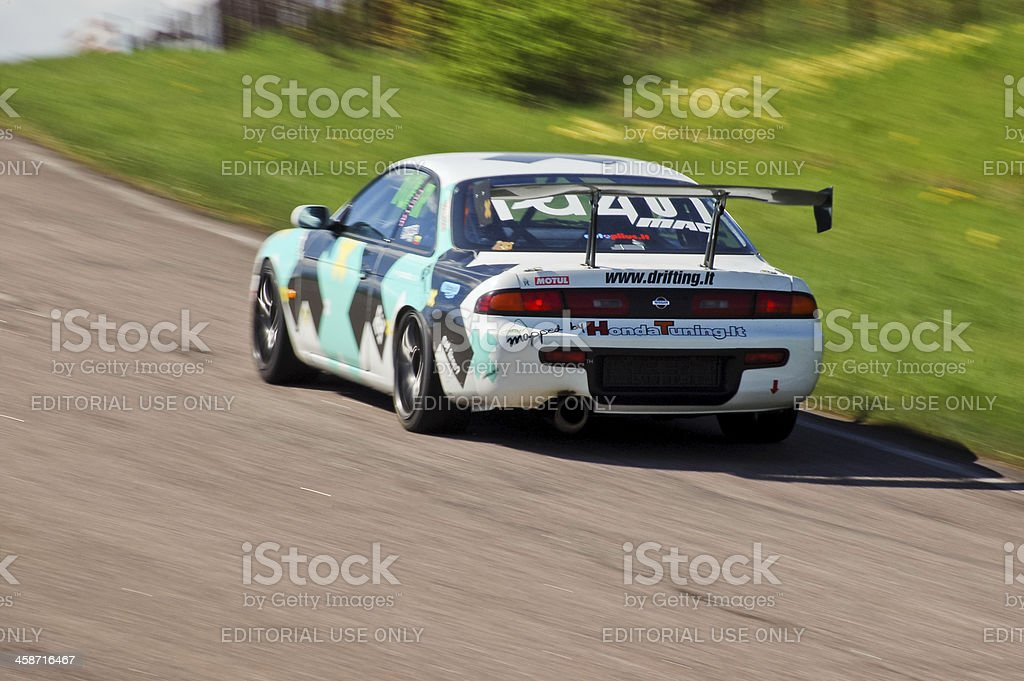 Nissan S14 racing royalty-free stock photo