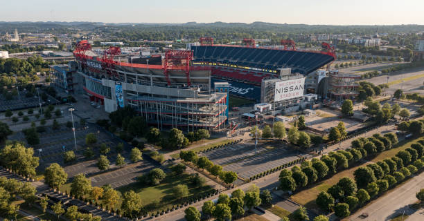 Nissan Stadium home of Titans in Nashville Tennessee stock photo