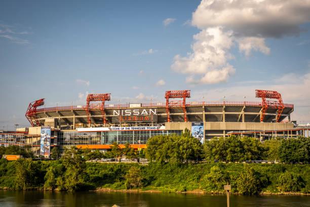 Nissan Stadium in Nashville stock photo