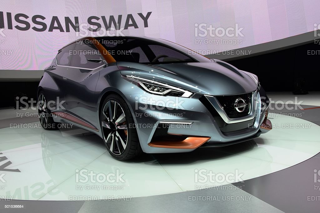Nissan Sway on the motor show stock photo