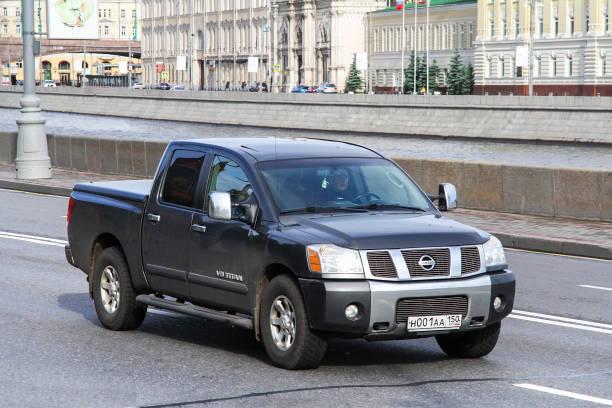 Nissan V8 Titan stock photo