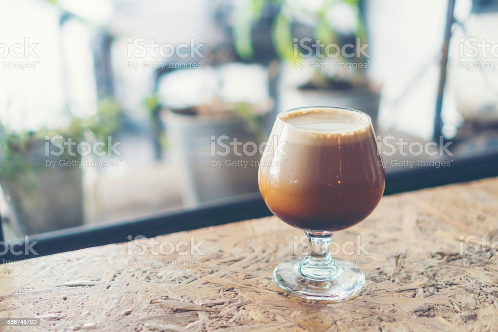 Nitro Cold Brew Coffee stock photo