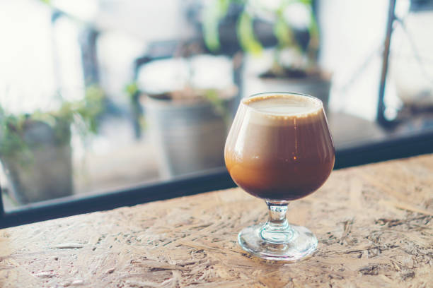 Nitro Cold Brew Coffee Nitro Cold Brew Coffee nitrogen stock pictures, royalty-free photos & images