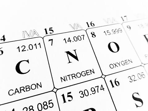 Foto de Nitrogênio Na Tabela Periódica Dos Elementos e mais fotos de stock de Ciência