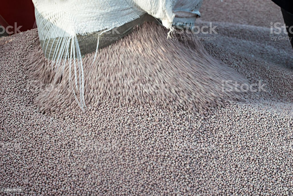 Nitrogenous fertilizer stock photo