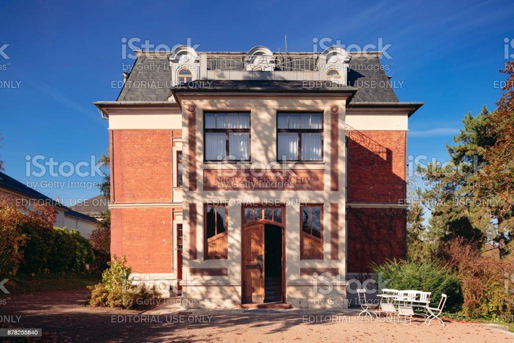 Nitzsche archive Weimar stock photo