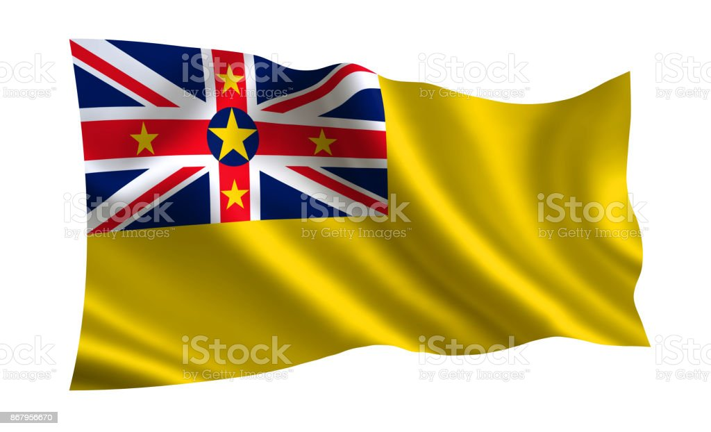 Niue flag. A series of 'Flags of the world.'  (The country - Niue flag) stock photo