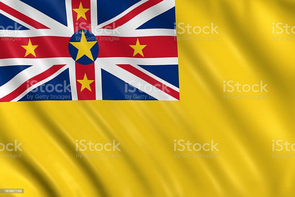 niue flag stock photo