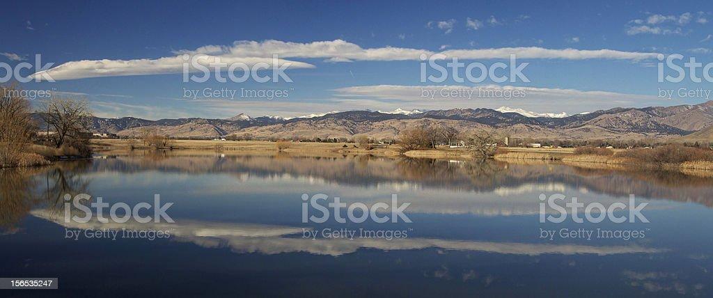 Niwot Lake Panorama royalty-free stock photo