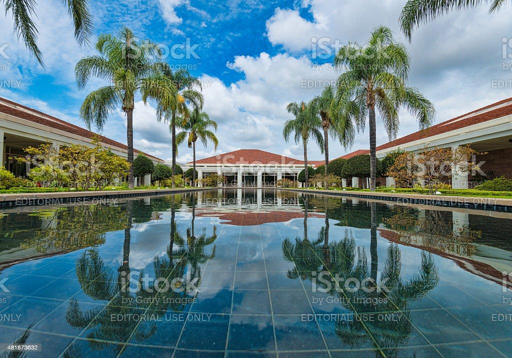 Nixon Library Wishing Pond - Yorba Linda, California stock photo