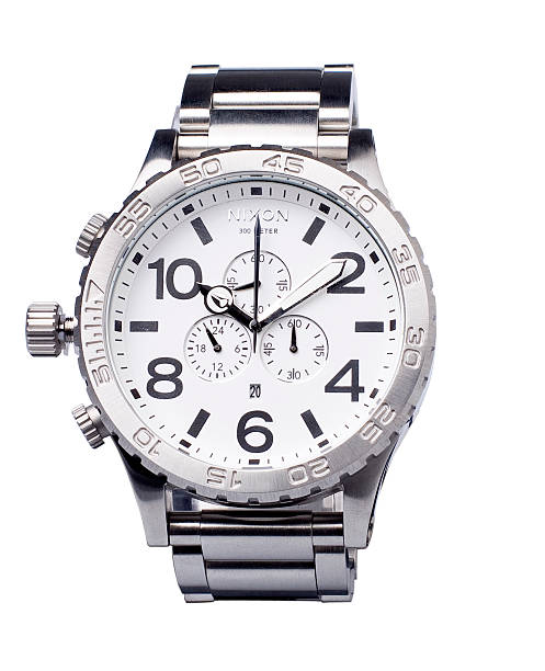 Nixon Stainless Men's Watch Isolated stock photo
