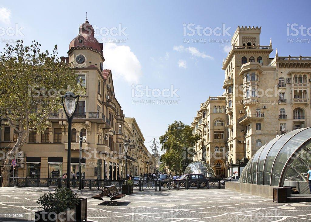 Nizami (Market ) street. Baku. Azerbaijan stock photo