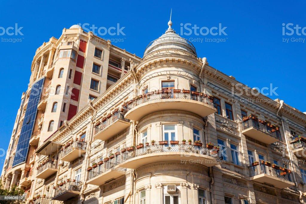 Nizami Street in Baku stock photo