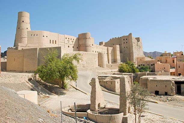 nizwa bahla fort in ad dakhiliya, oman. - fort bildbanksfoton och bilder