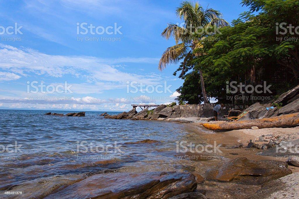Nkata bay, Malawi stock photo