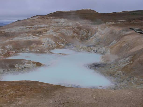 Námafjall - Eine Marslandschaft in Island stock photo