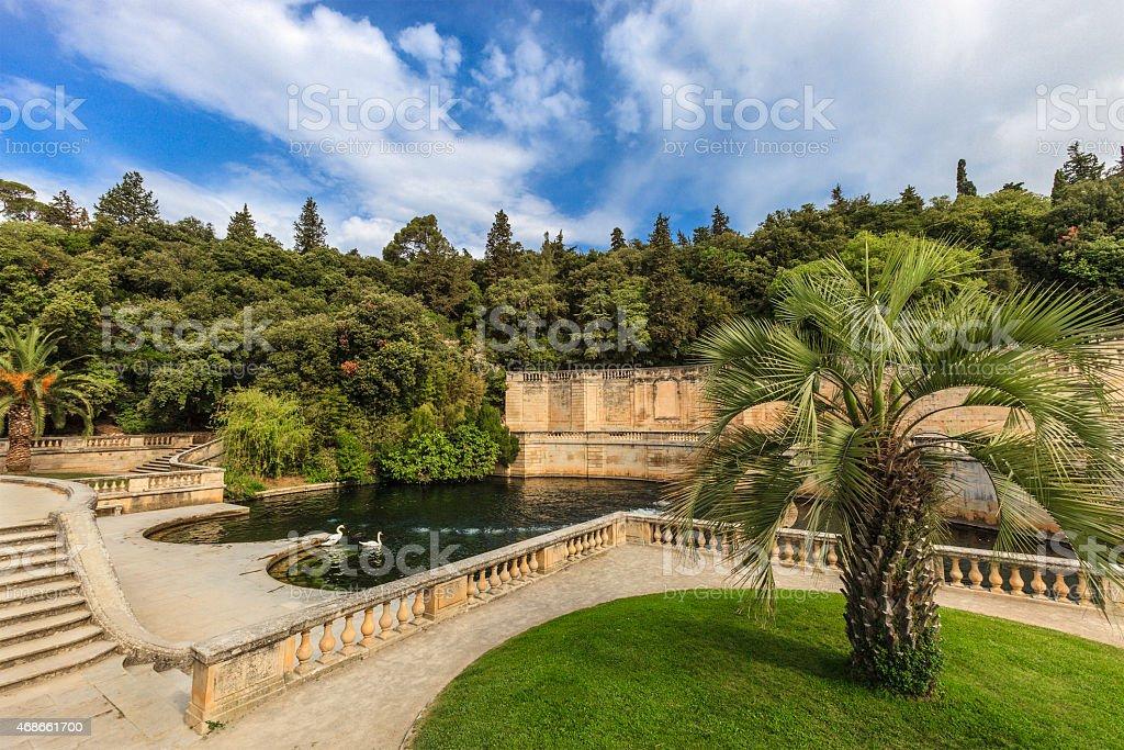Nîmes, Jardins de la Fontaine - France stock photo