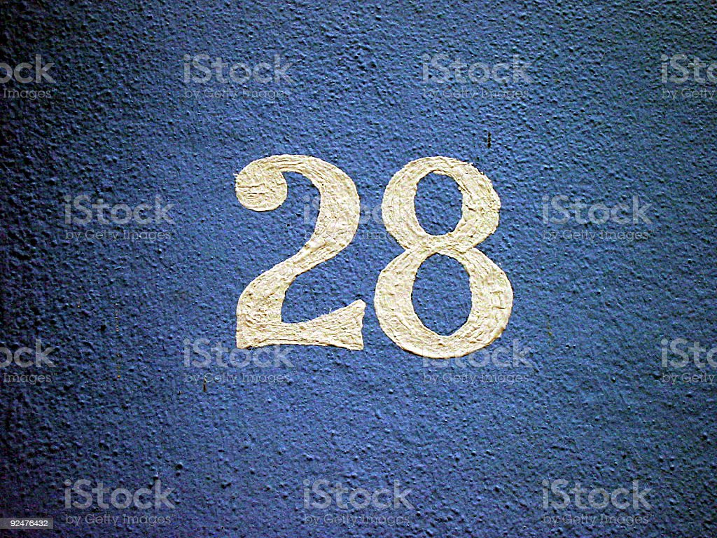 no. 28 royalty-free stock photo