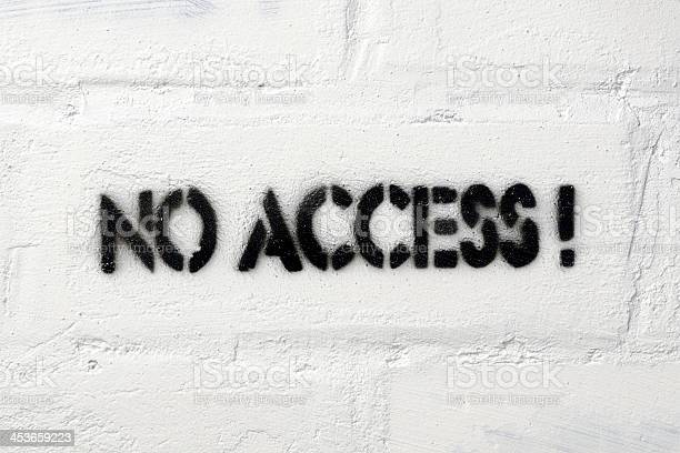 No Access Stock Photo - Download Image Now