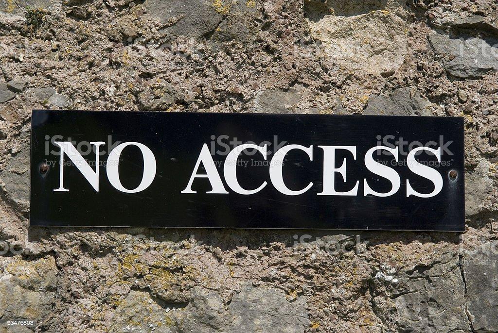 No Access royalty-free stock photo