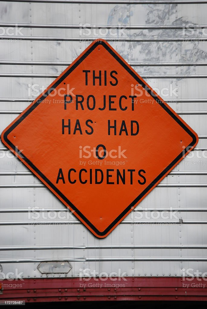 No Accidents royalty-free stock photo