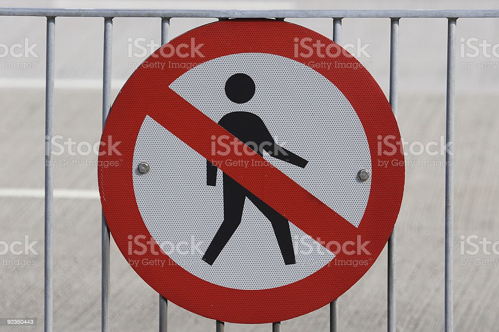 No Admission royalty-free stock photo