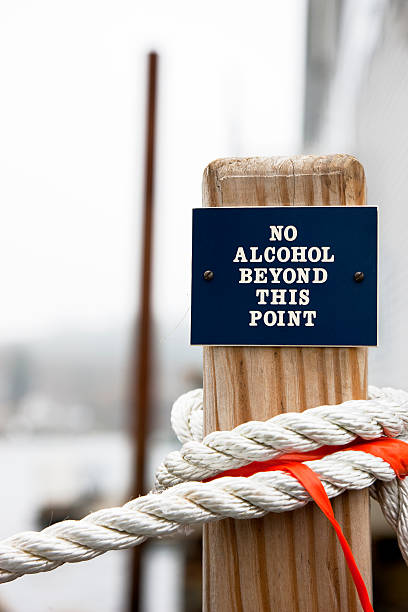 No Alcohol Beyond This Point stock photo