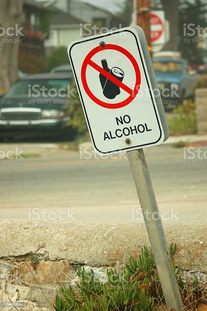 No Alcohol Sign royalty-free stock photo