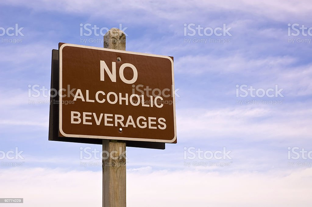 No alcoholic beverages stock photo