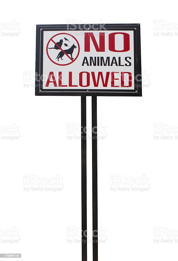 no animal allowed sign royalty-free stock photo