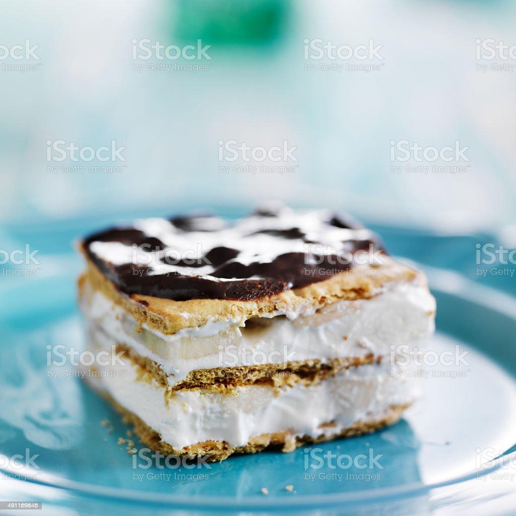 no bake graham cracker eclair stock photo