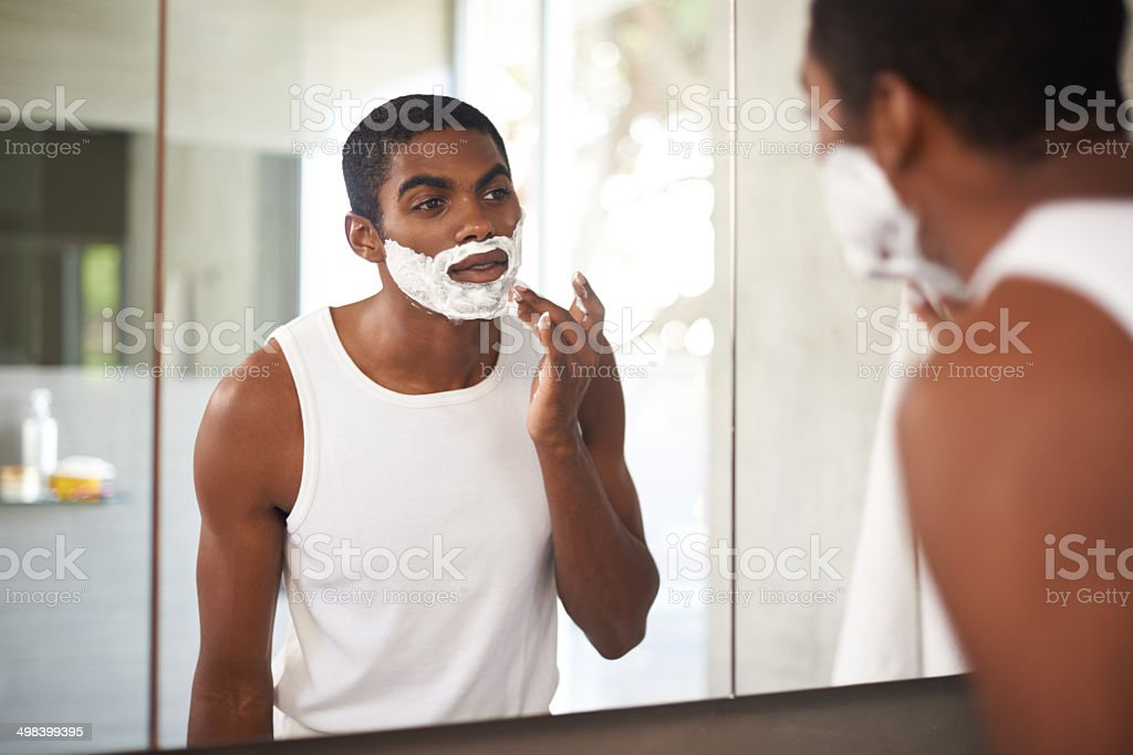 No beards for him! stock photo