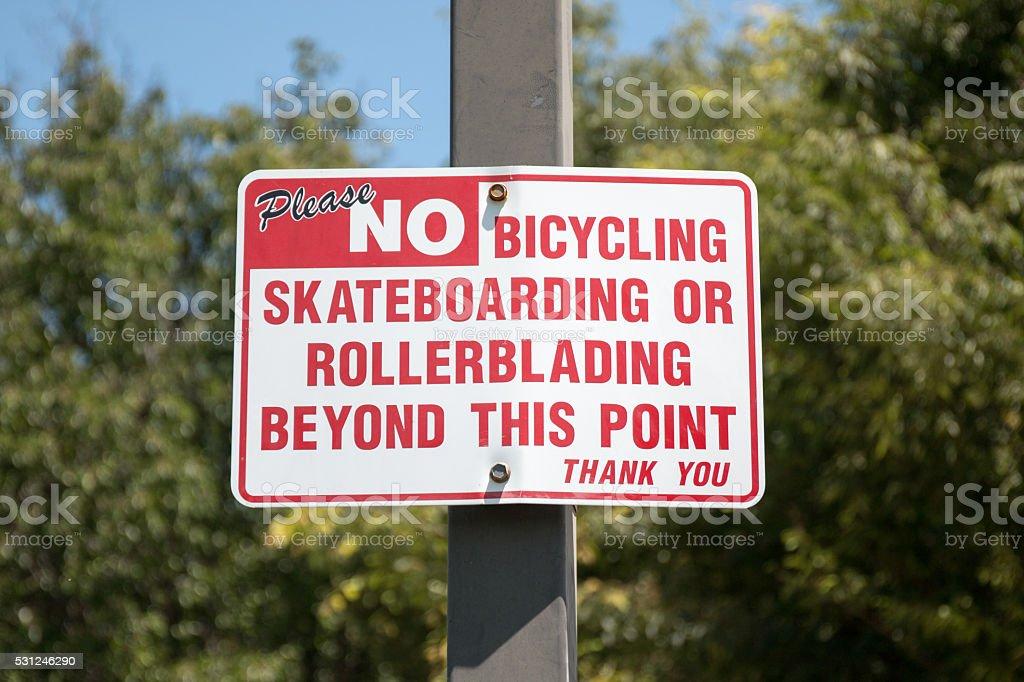 Nenhum sinal de ciclismo - foto de acervo