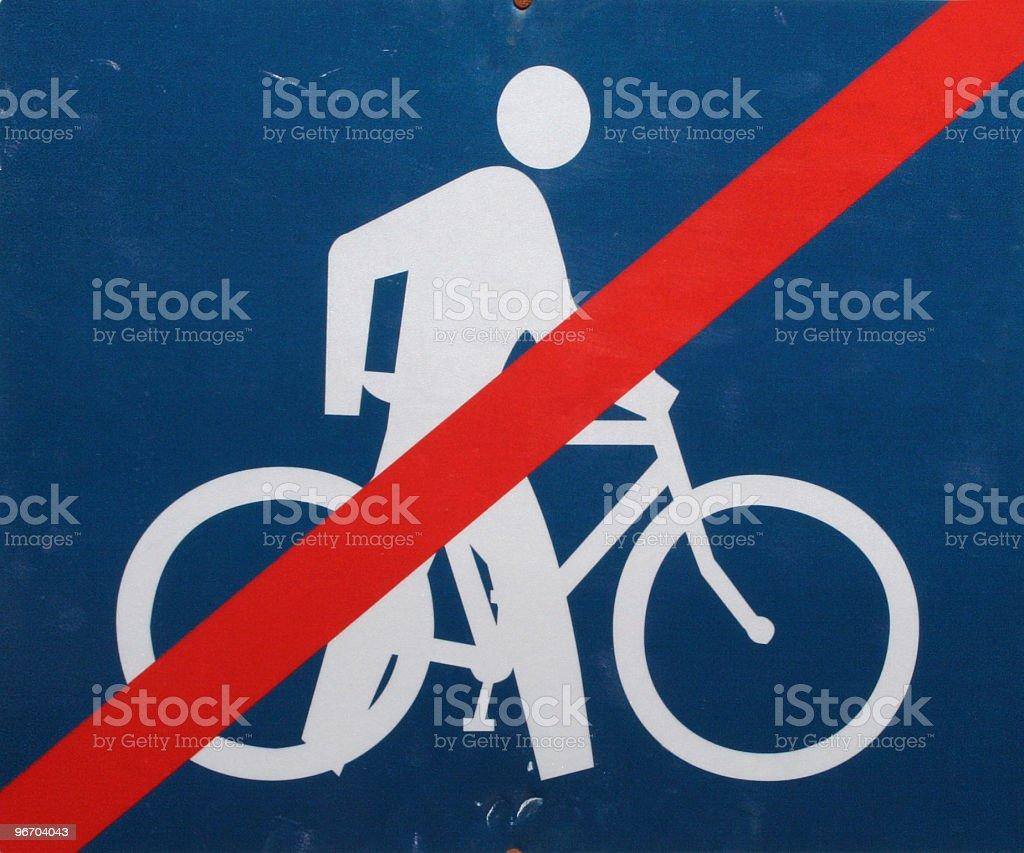 No Biking sign royalty-free stock photo