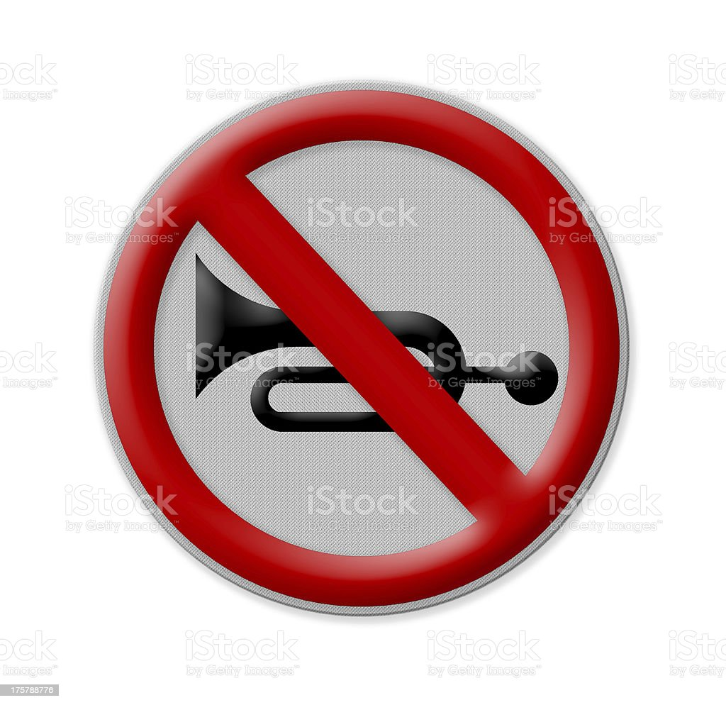 no blowing of horn , royalty-free stock photo