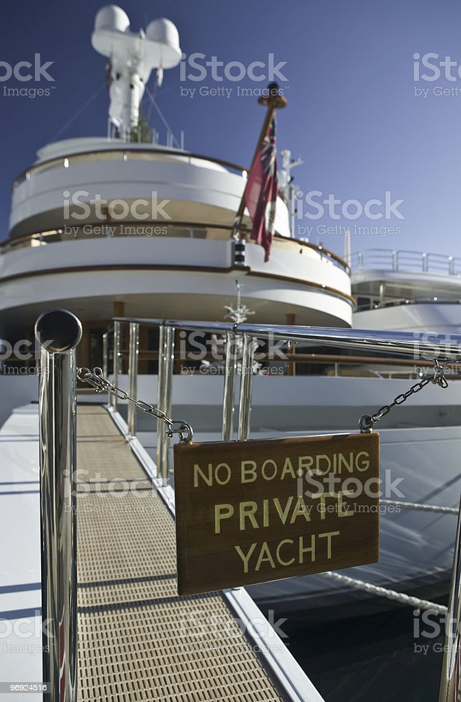 No boarding, private yacht! royalty-free stock photo