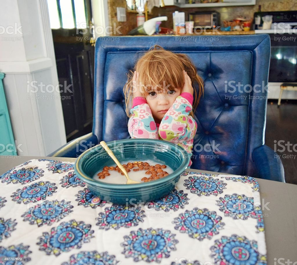 No breakfast stock photo