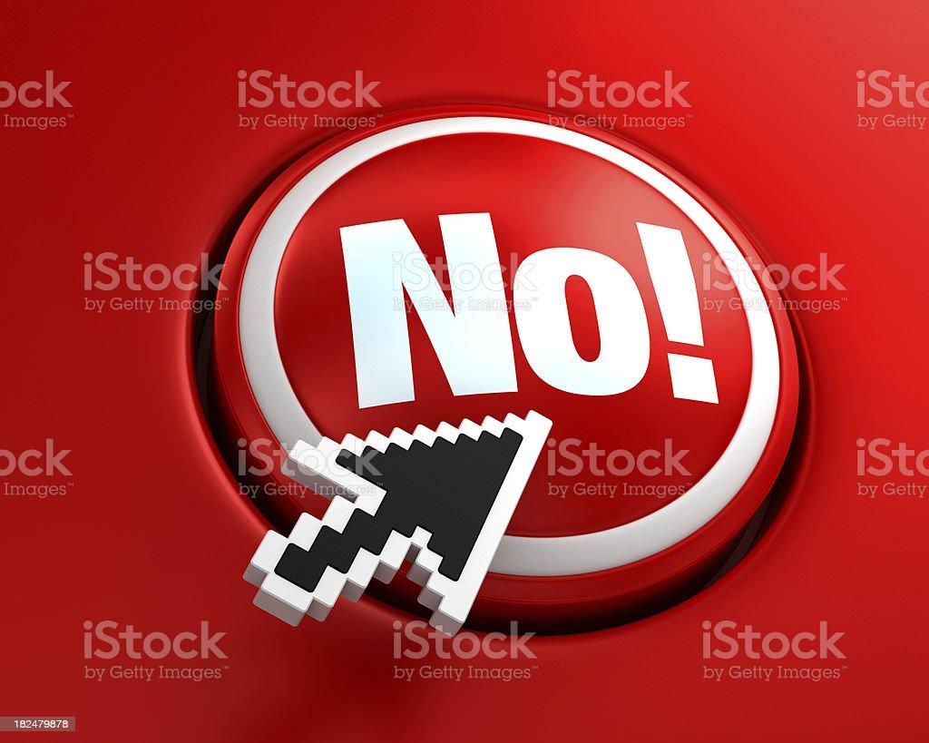 No! button royalty-free stock photo