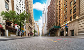 istock No cars and no people on Madison Avenue during the Covid-19 pandemic lockdown in New York City. 1227193339