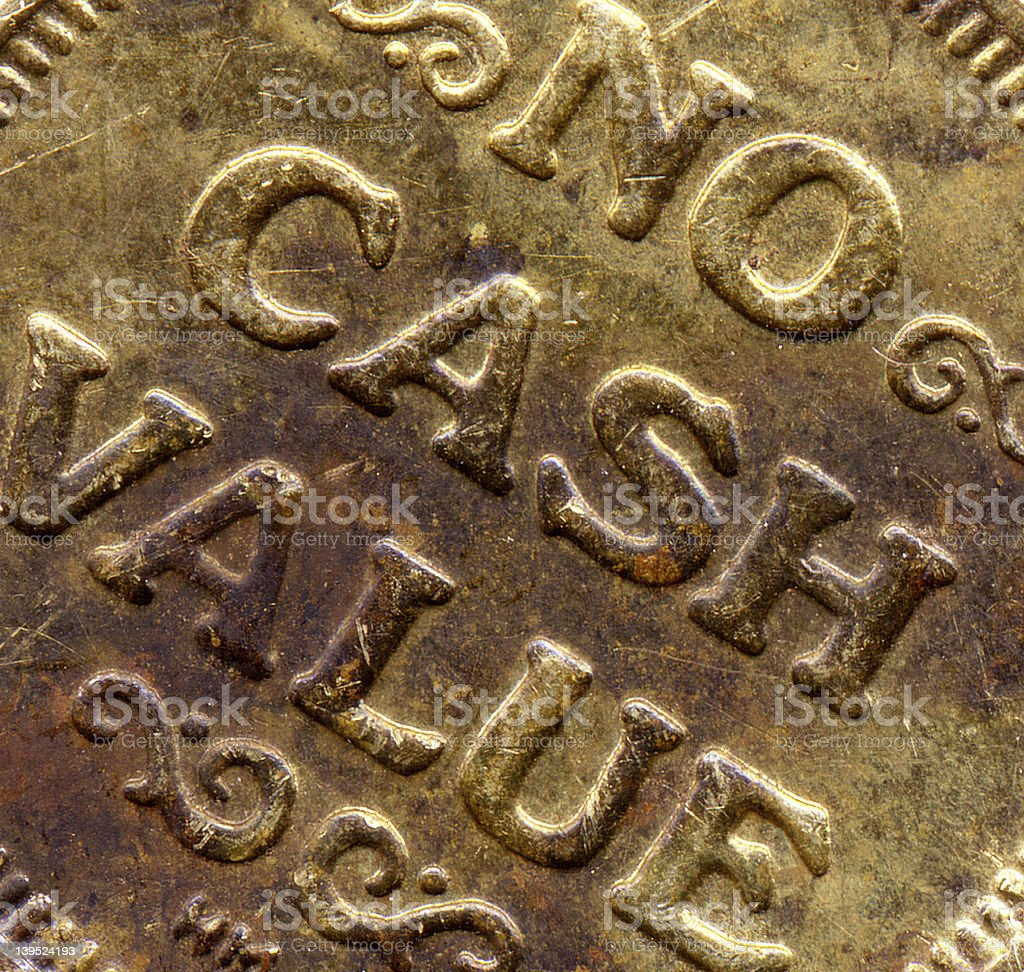 No Cash Value - (Detail) royalty-free stock photo