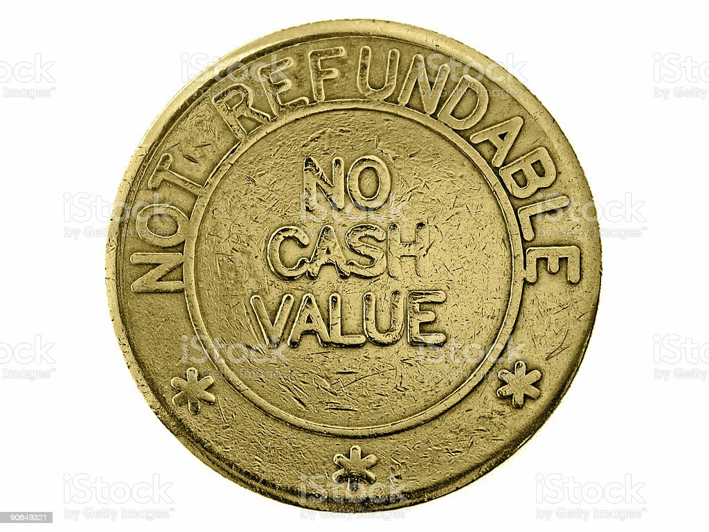No cash value stock photo