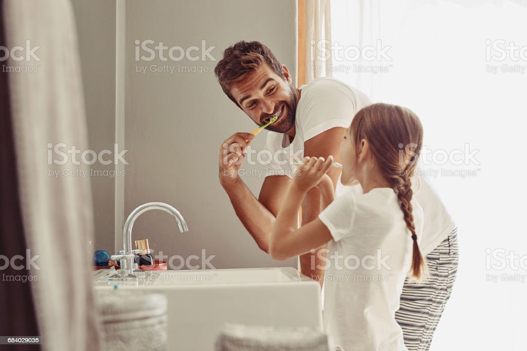No cavities for this family stock photo