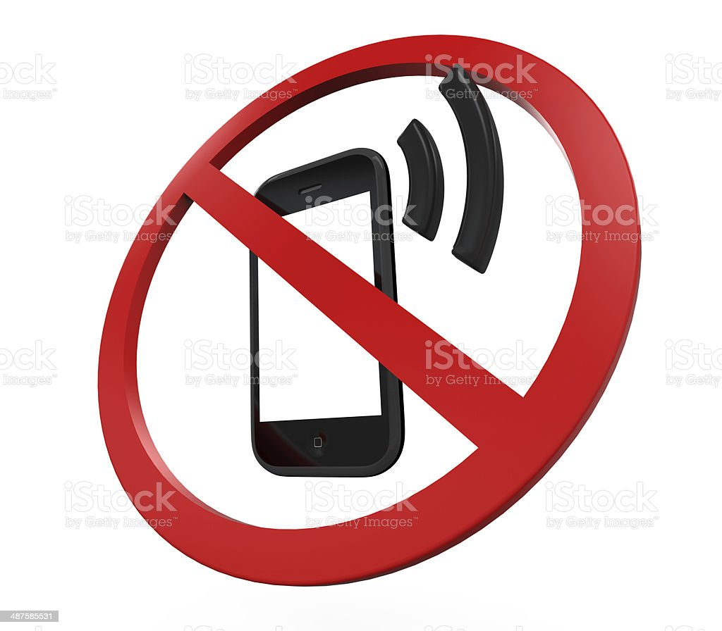 No Cell Phone Sign stock photo