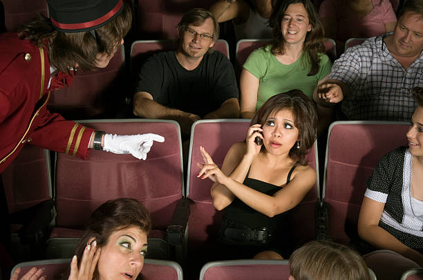 No Cell Phones in Movie Theater stock photo