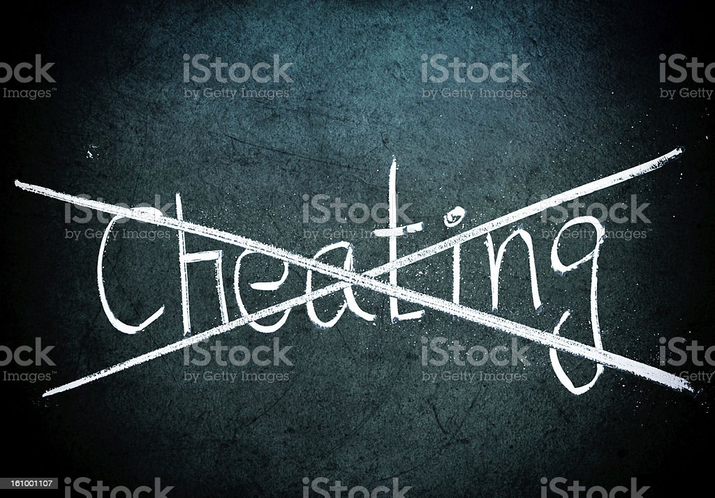 No cheating concept royalty-free stock photo