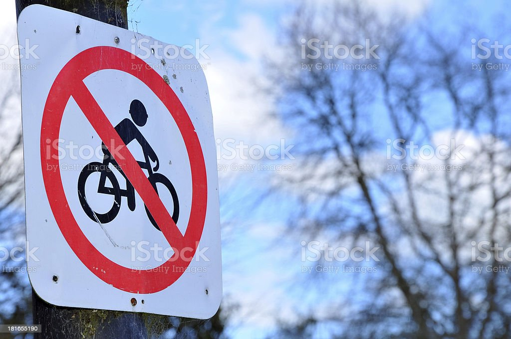 No Cycling royalty-free stock photo